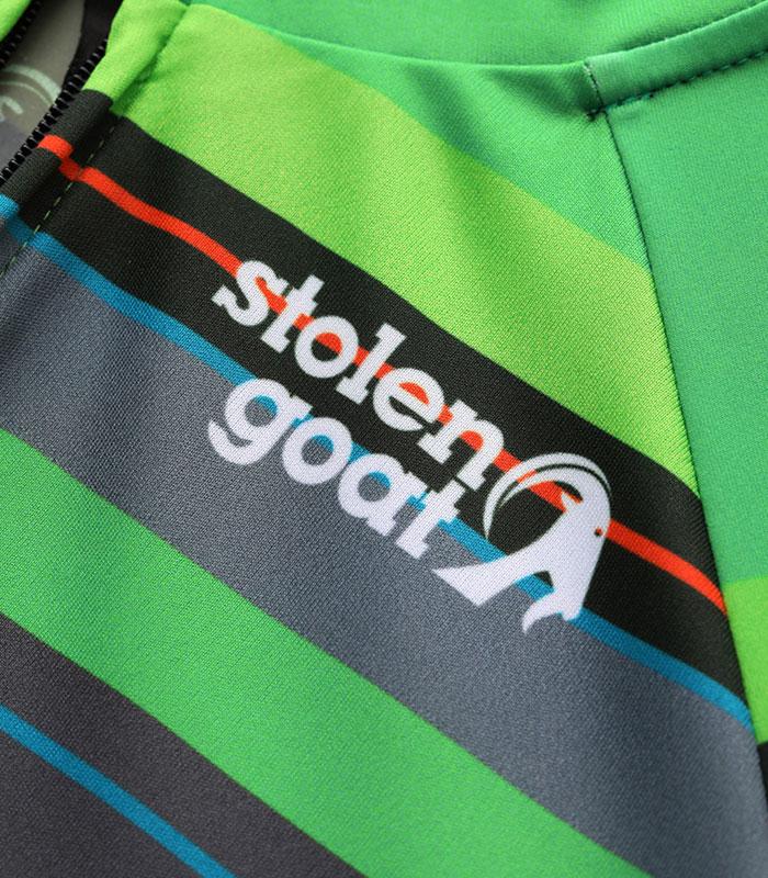 Stolen Goat Hassle men's bodyline cycling jersey front logo