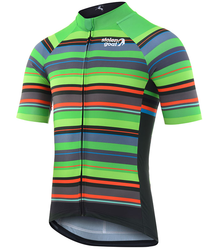 Stolen Goat Hassle men's bodyline cycling jersey front
