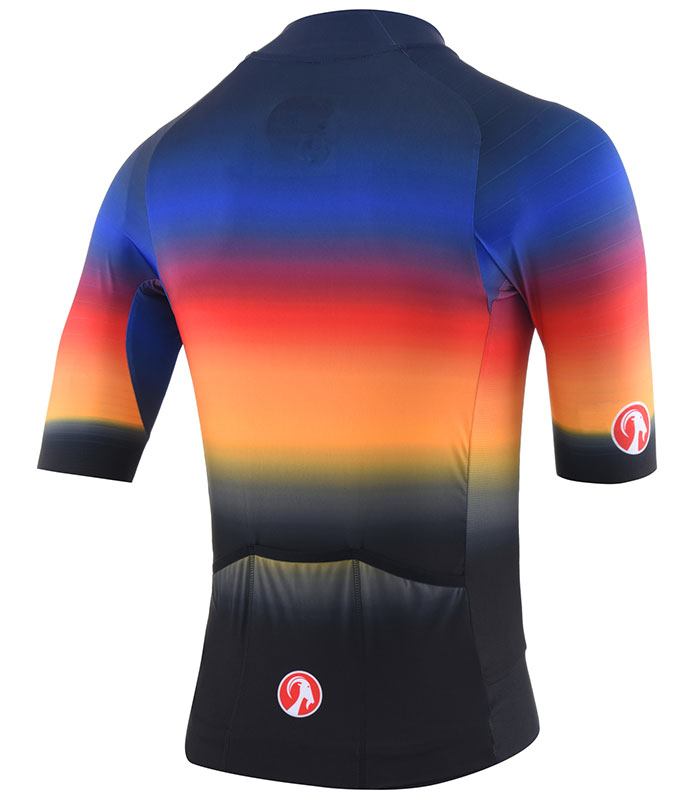 Stolen Goat Hot Sauce epic cycling jersey rear