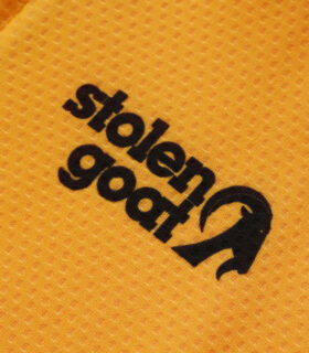 Stolen Goat logo on the Fitch Mango Bodyline LS jersey