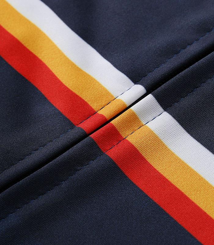 Stolen Goat Neat Navy Men's Bodyline Cycling Jersey close up