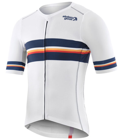 Stolen Goat Neat White men's climbers cycling jersey front