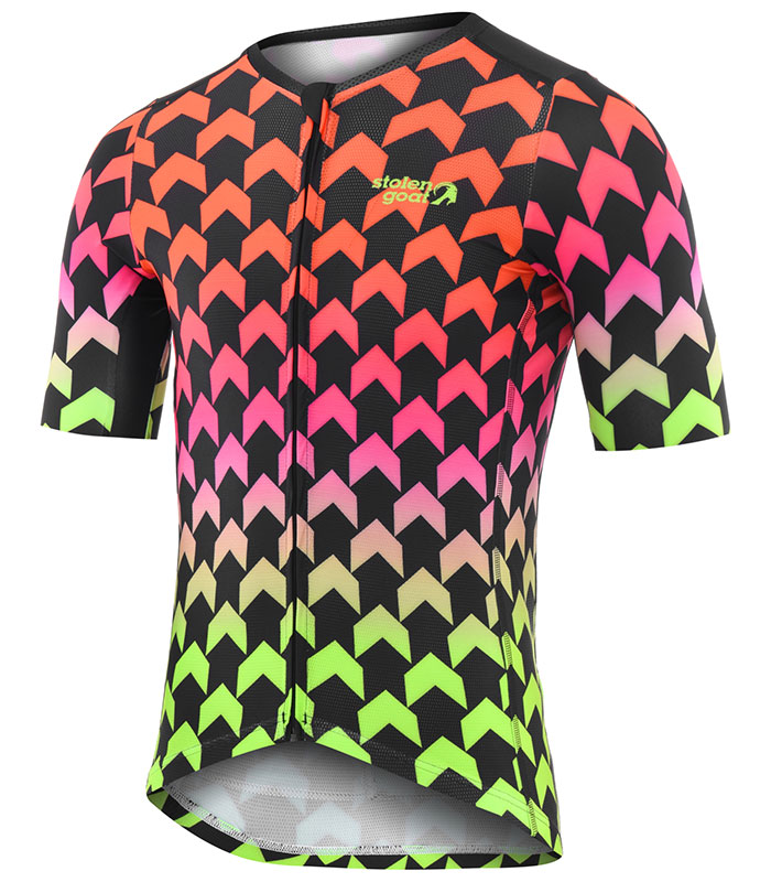 Stolen Goat Supernaut Hot men's climbers cycling jersey front