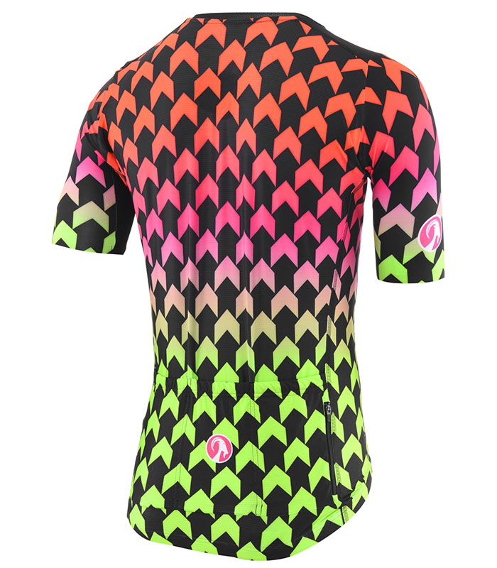 Stolen Goat Supernaut Hot men's climbers cycling jersey rear