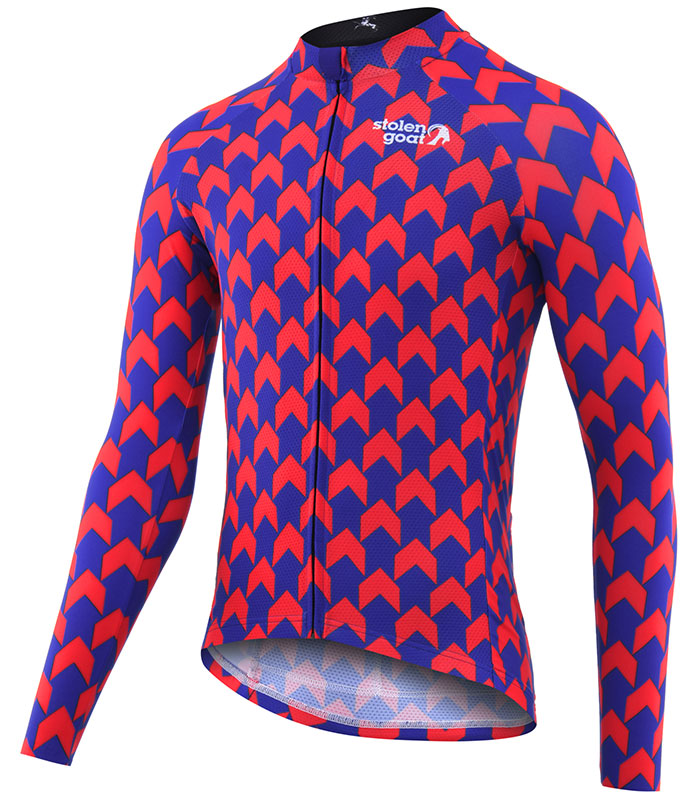 Stolen Goat Supernaut Red Blue jersey front