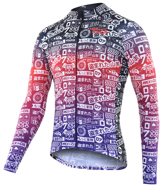 Stolen Goat Takashi Bodyline LS cycling jersey front