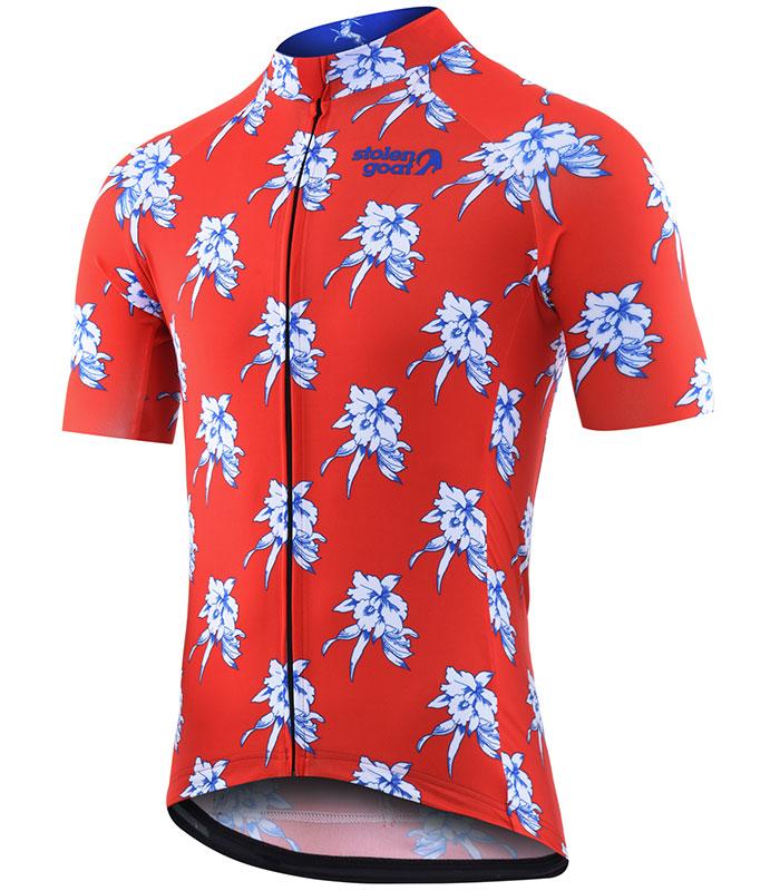 Stolen Goat Oahu men's bodyline cycling jersey front