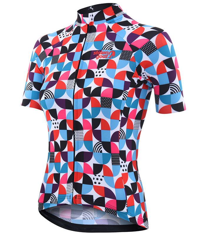 Stolen Goat Cookies women's bodyline cycling jersey front