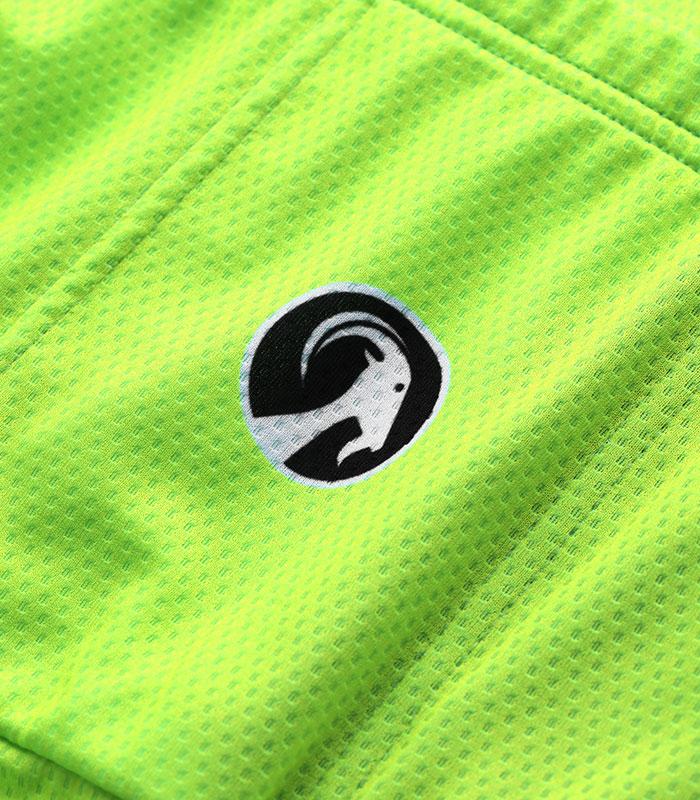 stolen goat fitch green women's core bodyline ls jersey rear logo