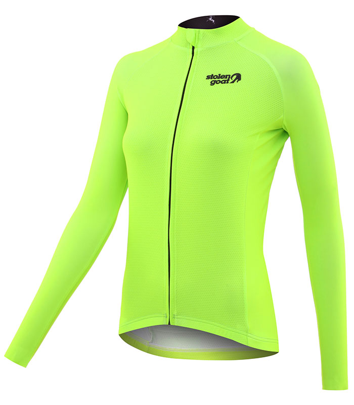 stolen goat fitch green women's core bodyline ls jersey front