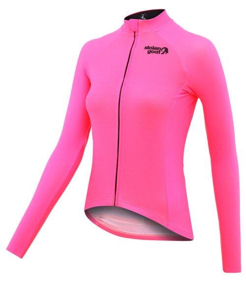 stolen goat fitch pink women's core bodyline ls jersey front