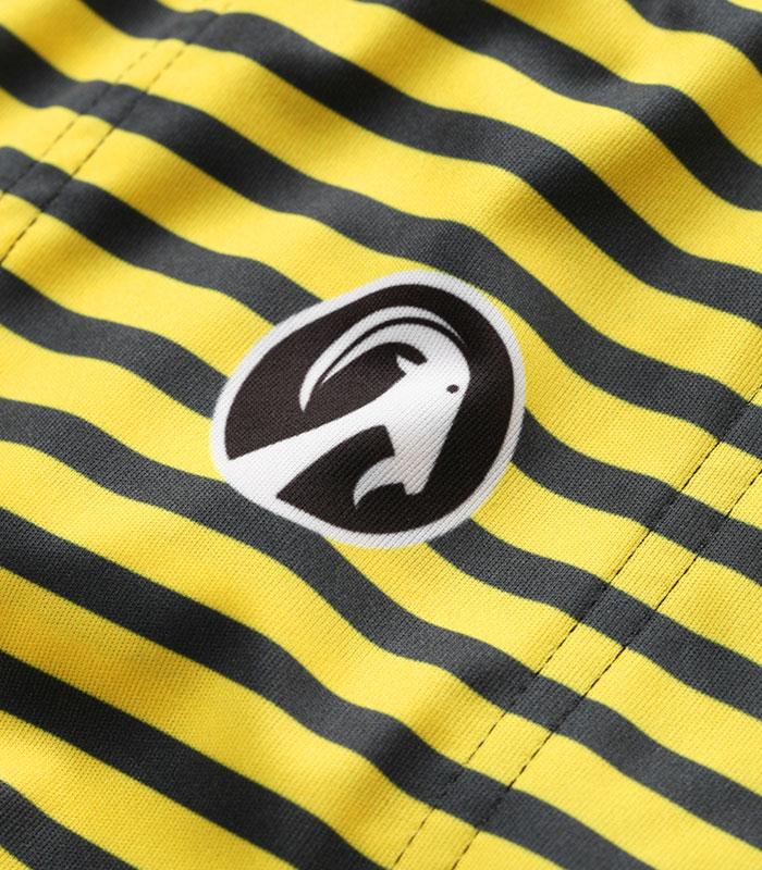 Stolen Goat women's Morello Yellow bodyline cycling jersey logo