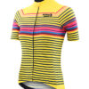 Stolen Goat women's Morello Yellow bodyline cycling jersey front