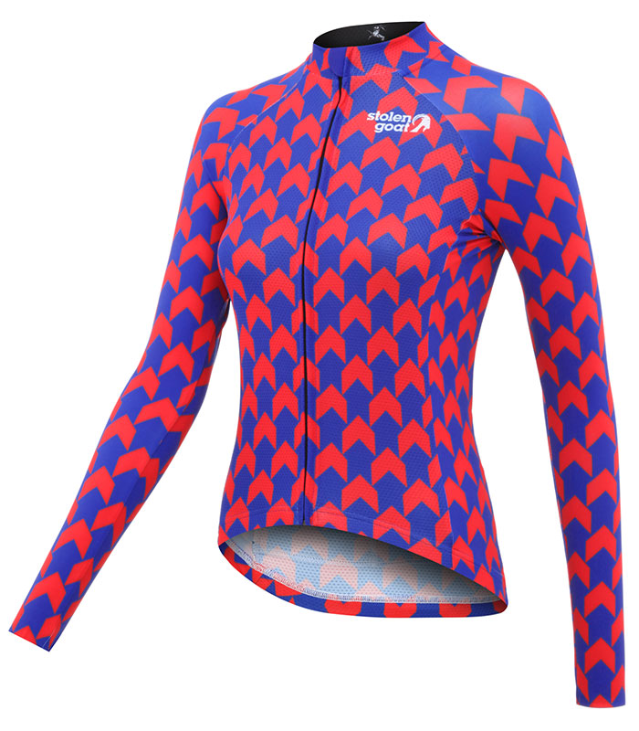 Stolen Goat Superneaut Red women's Bodyline Jersey ls