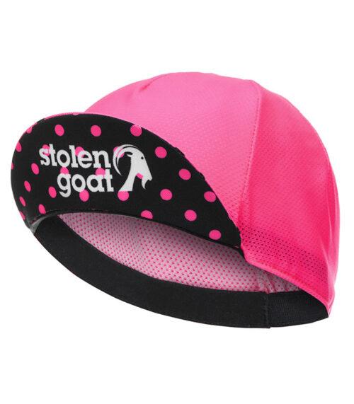 stolen goat joiner pink lightweight cycling cap