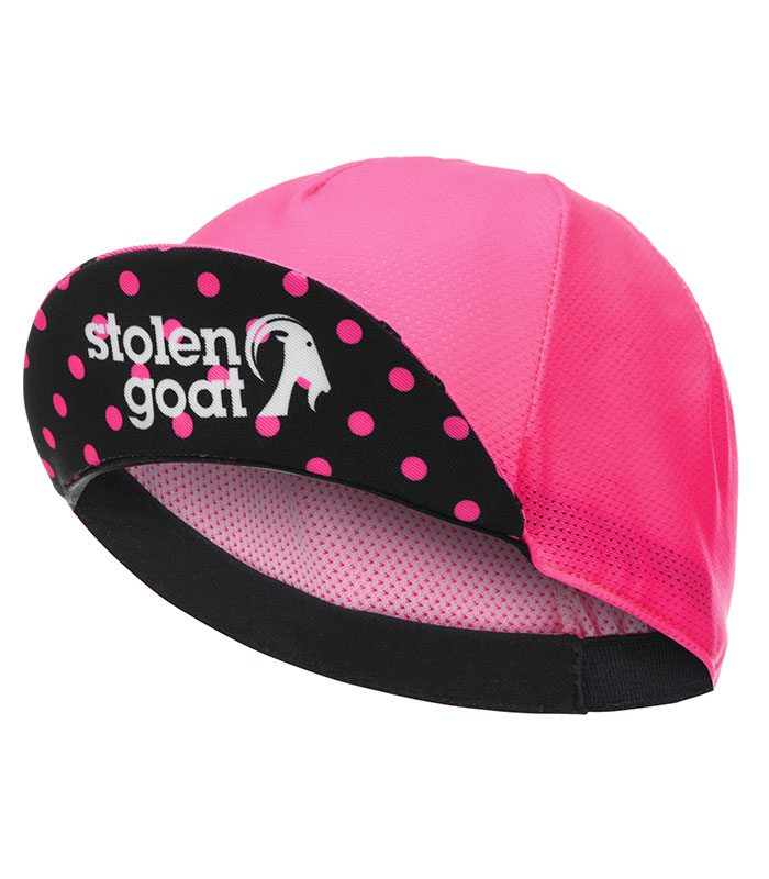 stolen goat joiner pink lightweight cycling cap