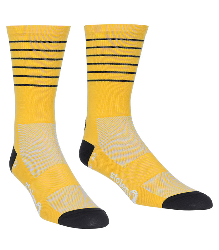 stolen goat mango cycling socks