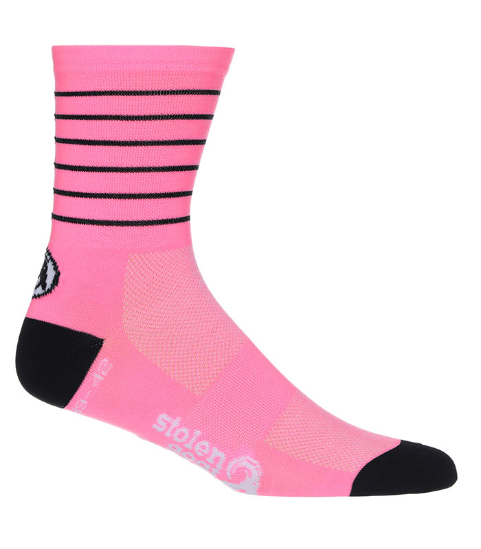 FITCH PINK - CREW CUT COOLMAX CYCLING SOCKS