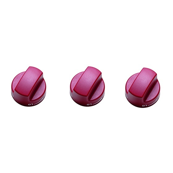 Range SRT Red Black SS Knobs Sm RED 1 1