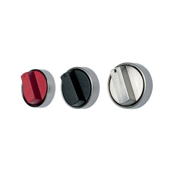 824483 SET OF FIVE CONTROL KNOBS STAINLESS STEEL 1