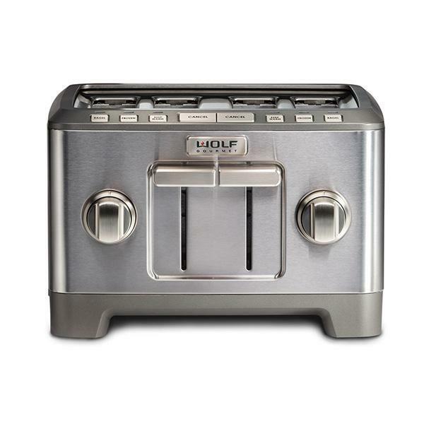 ICBWGTR124 S UK 4 slice toaster brushed stainless knob 1