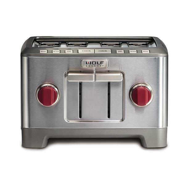 ICBWGTR104 S UK 4 slice toaster red knob 1