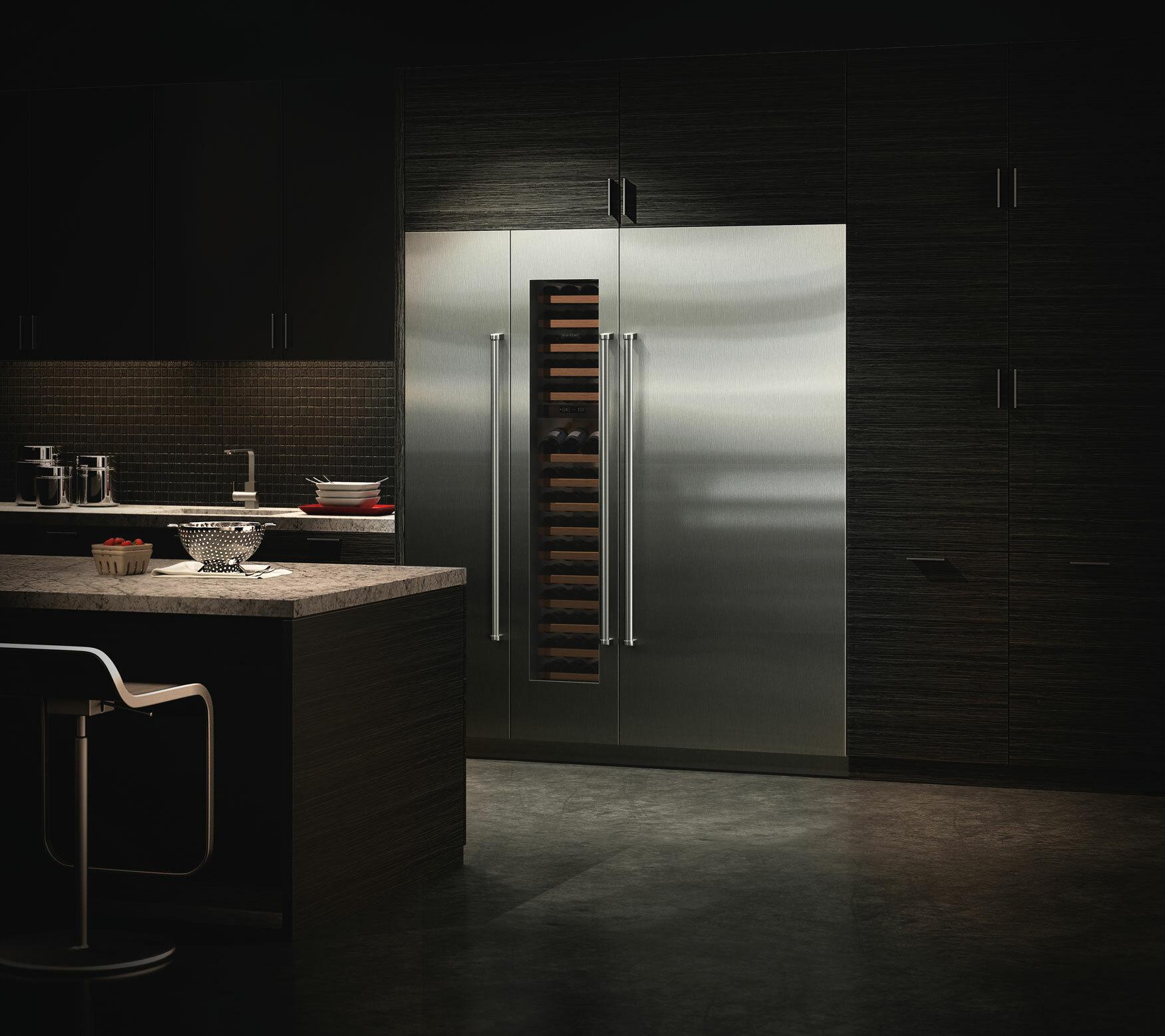 Column Freezer in Kitchen