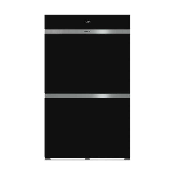 ICBDO30 CM B BUILT IN M SERIES CONTEMPORARY BLACK GLASS DOUBLE OVEN