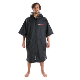 Dryrobe Advance Towelling Changing Robe (Black/Grey)