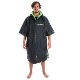 Dryrobe Advance Towelling Changing Robe (Black/Green)