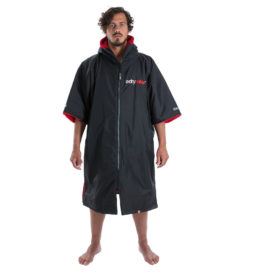 Dryrobe Advance Towelling Changing Robe (Black/Red)