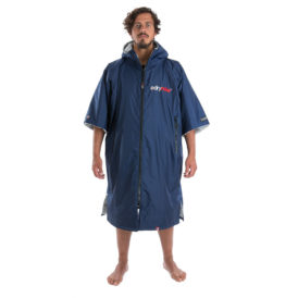 Dryrobe Advance Towelling Changing Robe (Navy/Grey)