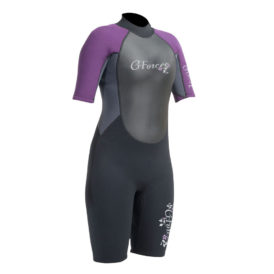 G-Force Ladies Flatlock Shortie Wetsuit