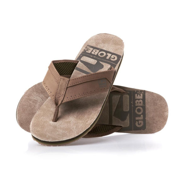 Globe Base Flip Flops - Tobacco/Chocco