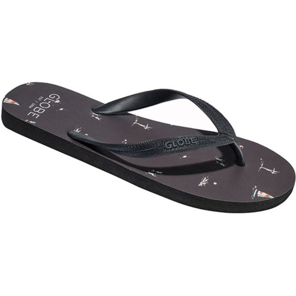Globe Beach Flip Flops - Nine Iron Black