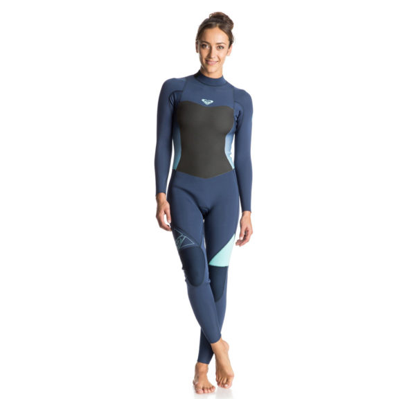 Roxy Syncro GBS Back Zip Summer Wetsuit (Blue Print - BSQ0)