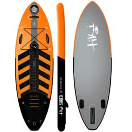 "Tiki Shred 8' x 30"" x 4"" inflatable SUP"