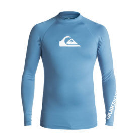 Quiksilver All Time Long Sleeve Rash Vest (Centre Blue - BLL0)