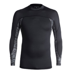 Quiksilver New Wave Long Sleeve Rash Vest (Black)