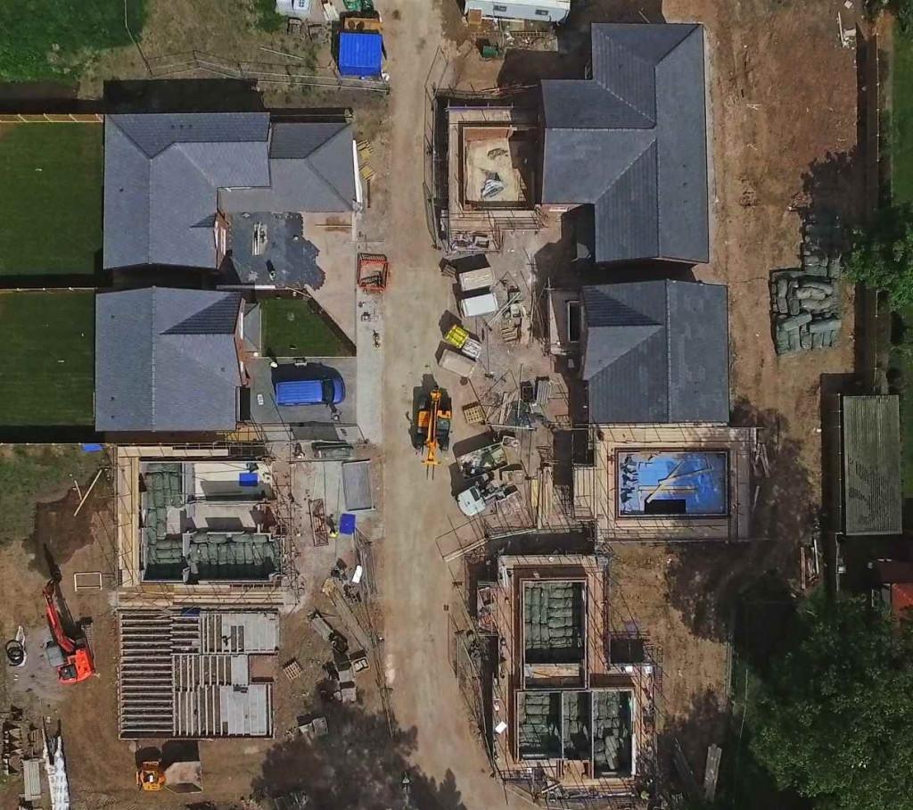 Siteflight over new estate