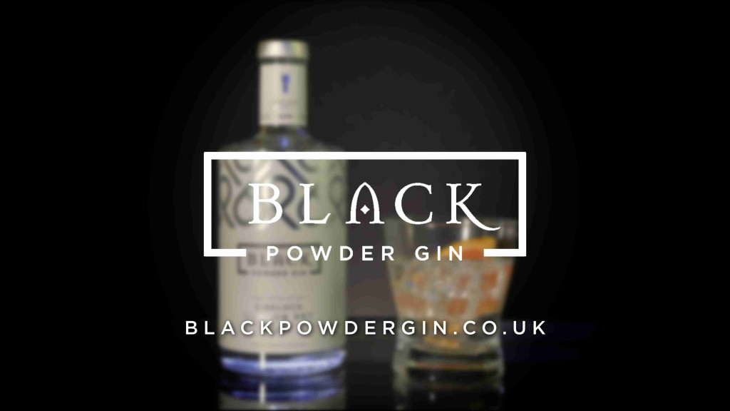 A video thumbnial for Black Power Gin showing their logo over a glass and bottle of gin in the background.