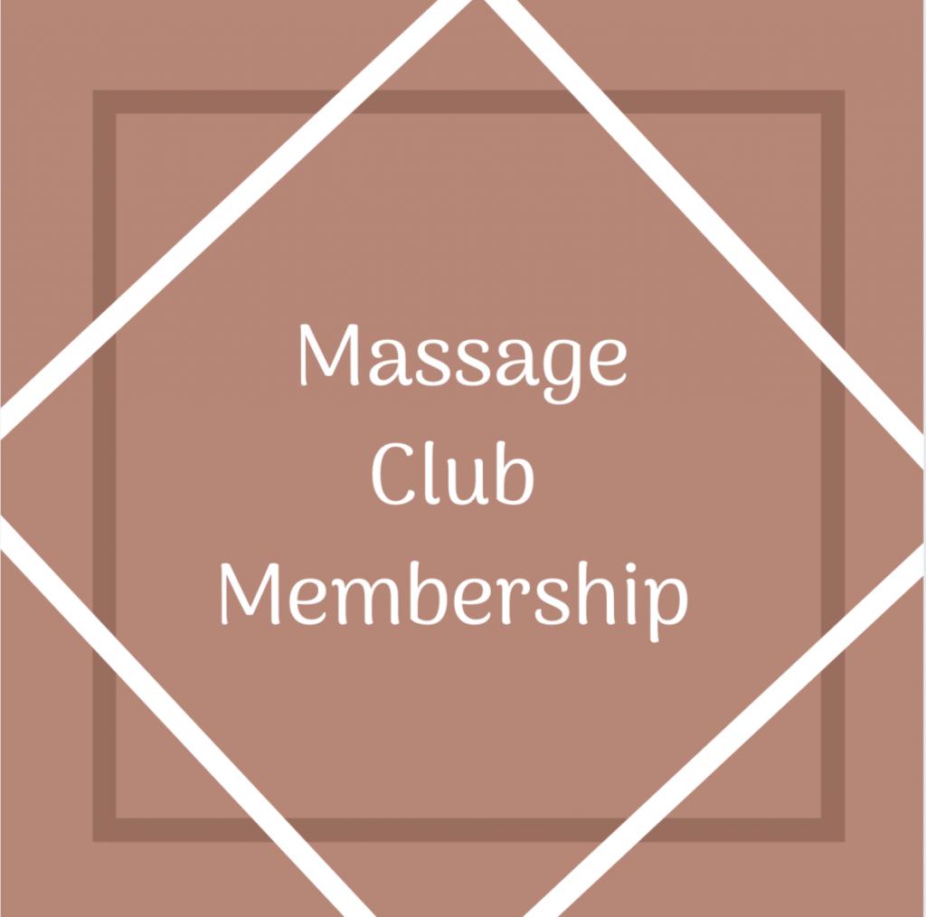 Massage Club Membership