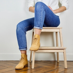 Yellow mustard nubuck boots Mama Sandy Image thumb 0