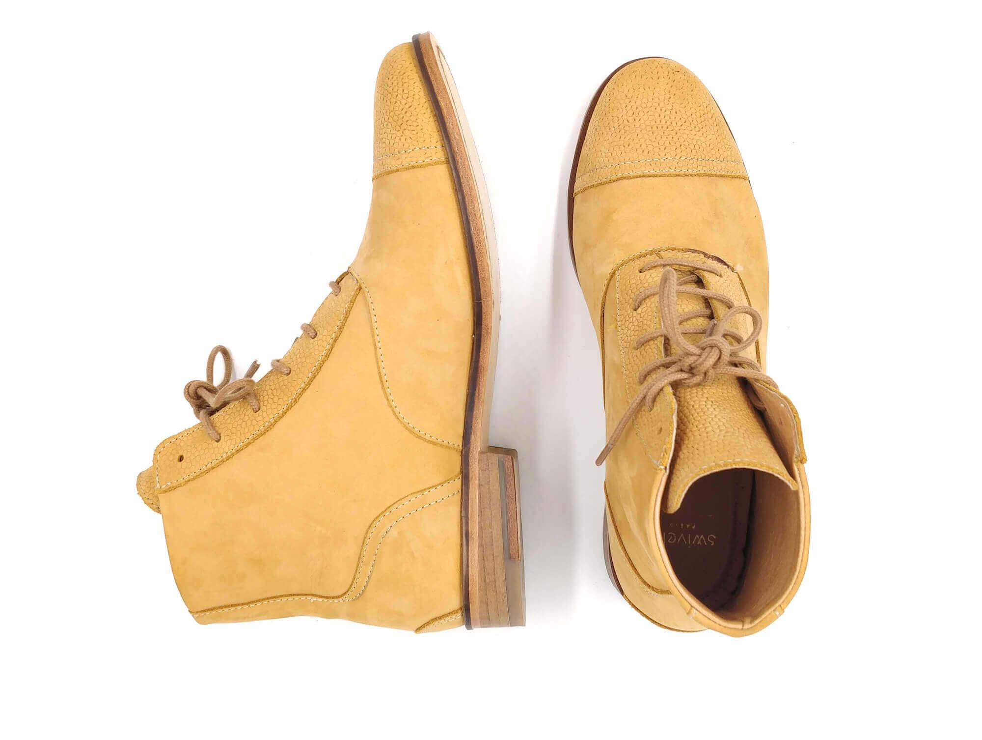 Photo Zoom Mama Sandy Mustard yellow nubuck boots