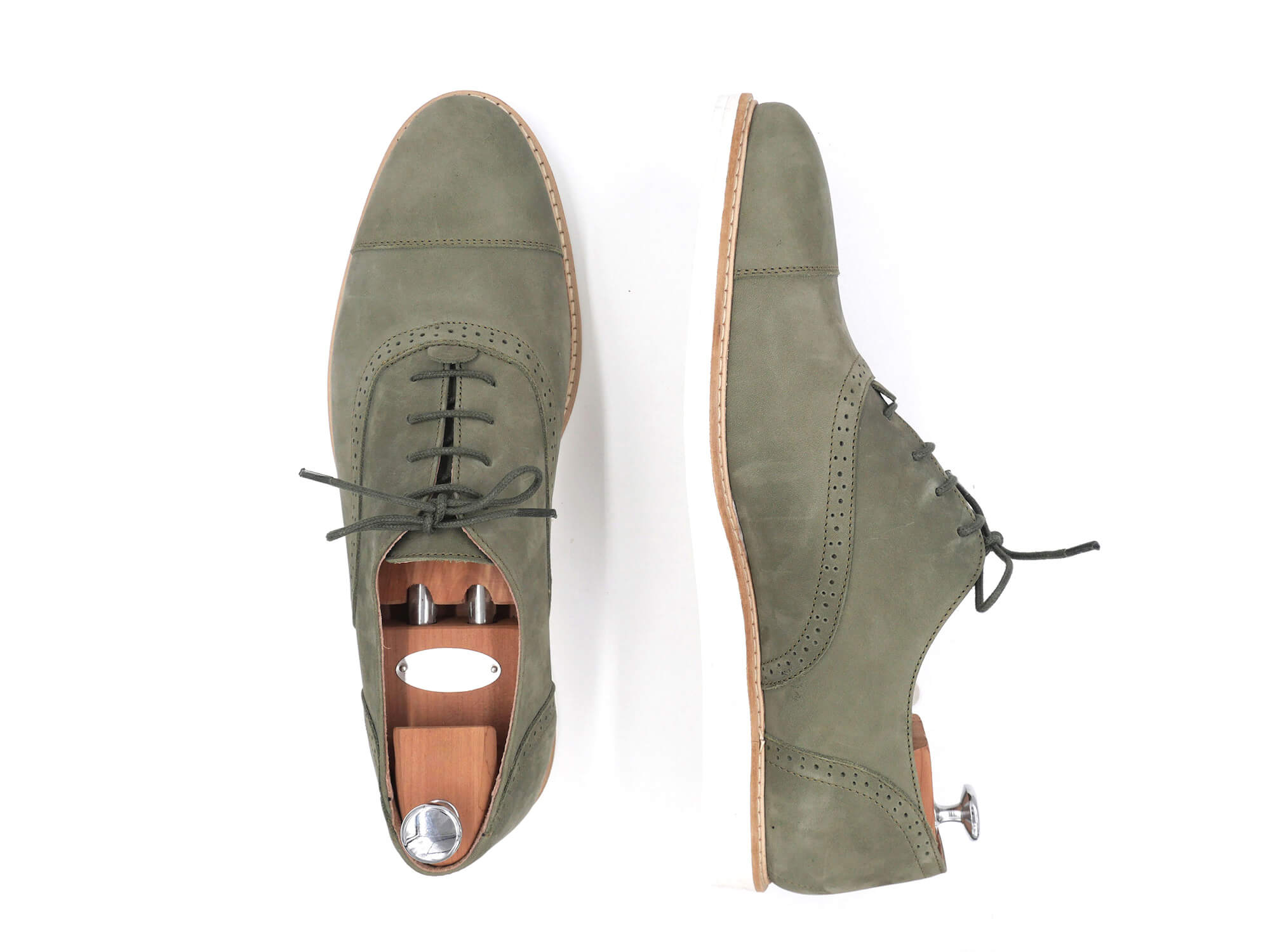 Photo Zoom Miss Kiwi Derbies sport en nubuck kaki