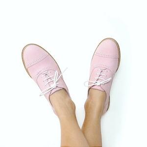 Pink nubuck sport derbies Miss Gummy Image thumb 0