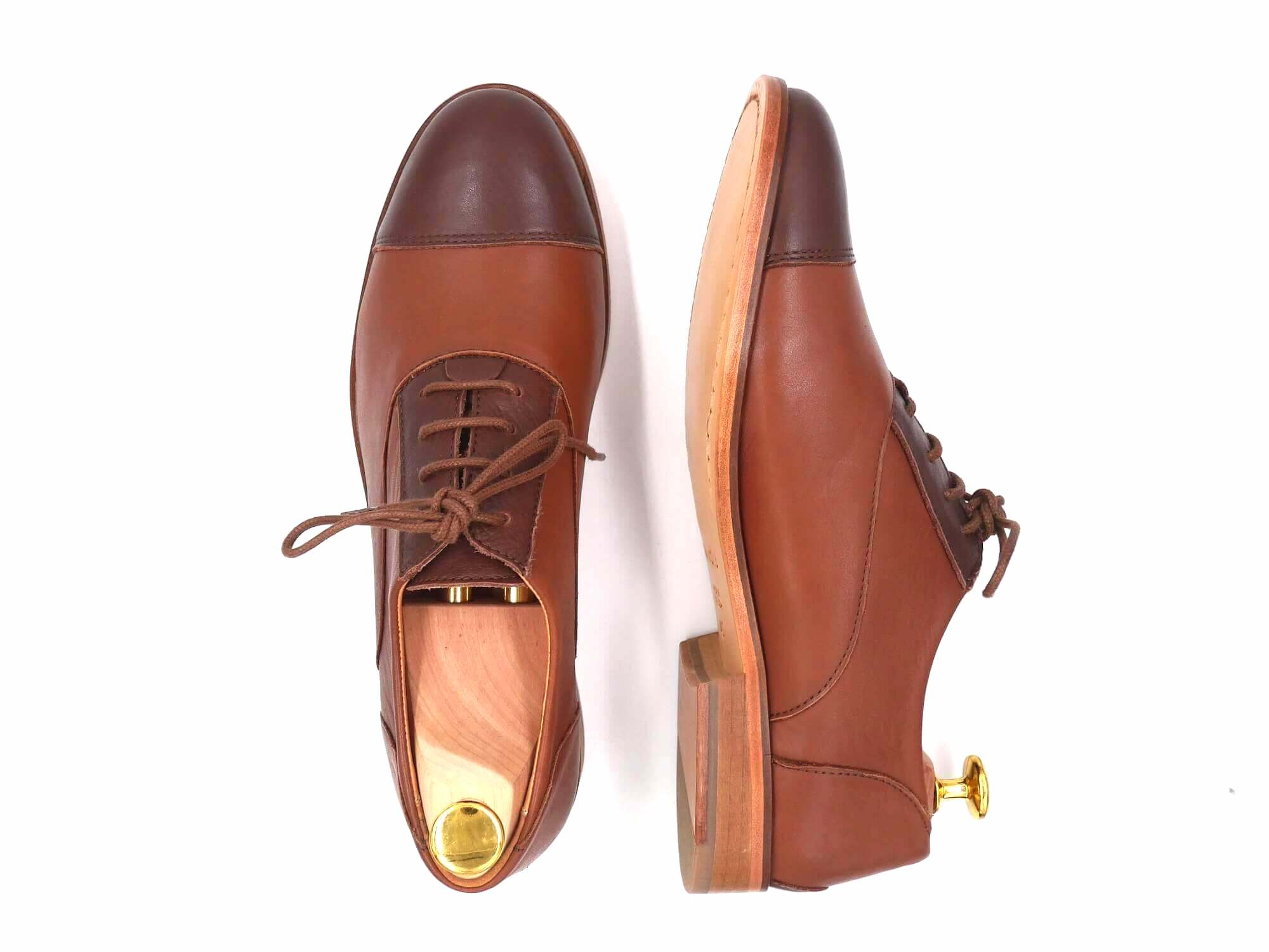 Photo Zoom Chestnut Derbies cuir marron et marron foncé