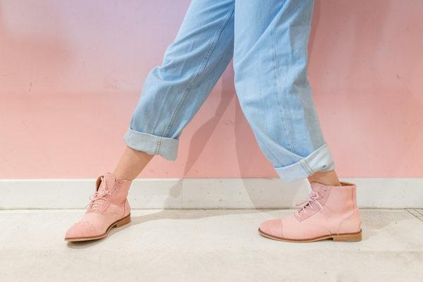 mama gummy pink nubuck boots