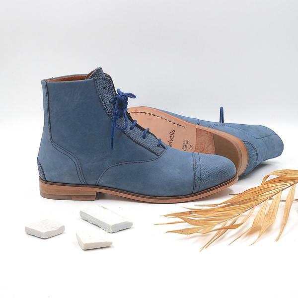 photo Mama Navy Navy blue nubuck boots
