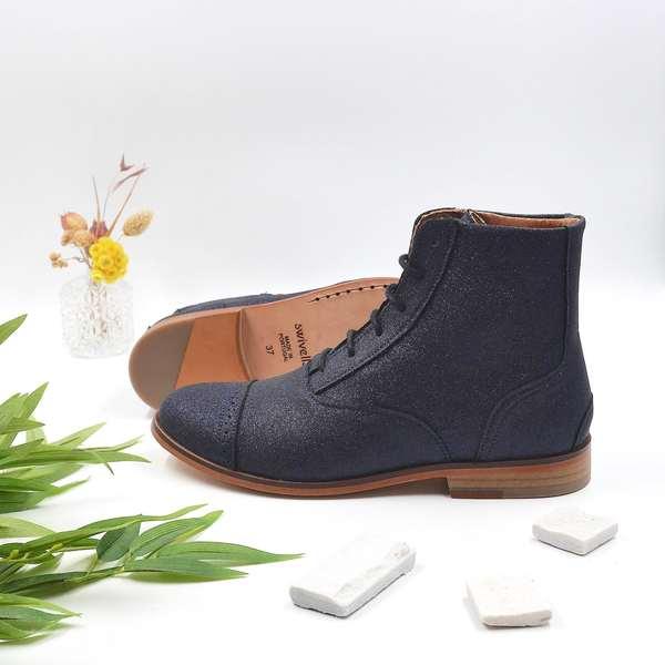 photo Mama Starry Dark blue glitter boots